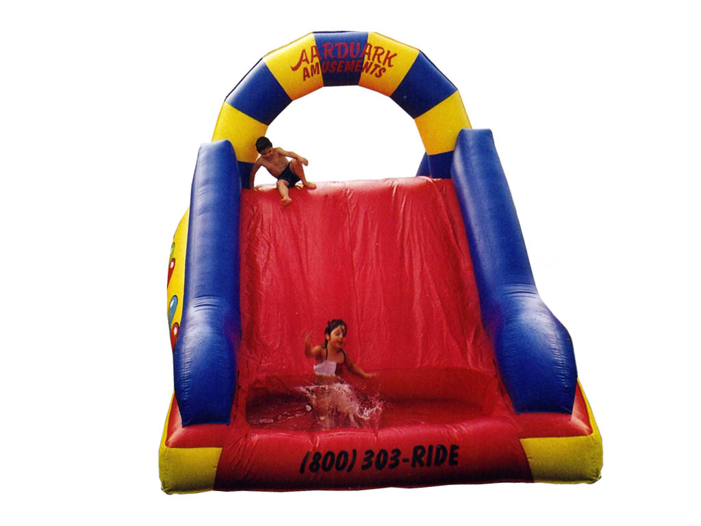 Red Yellow Blue Arched Water Slide